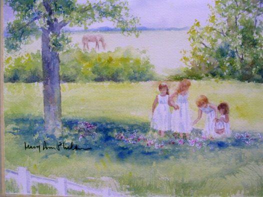 Sisters in a Meadow