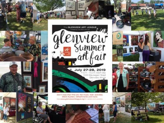 Collection of images from 2019 Summer Art Fair