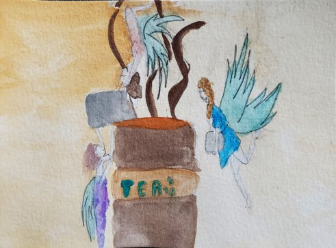 Fairies Making Tea, Holly Anderson