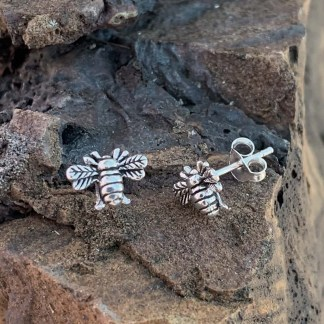Sterling Silver Bumblebee Earrings