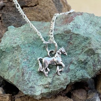 Sterling Posed Horse Pendant