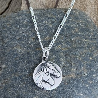 Sterling Horses Coin Pendant