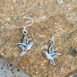 Sterling Hummingbird Dangle Earrings