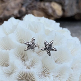 Sterling Starfish Stud Earrings