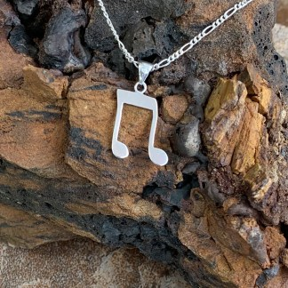 Music Note Silver Pendant