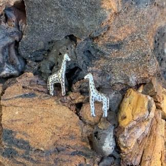 sterling giraffe stud earrings