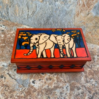 Elephant Box with Secret Lock