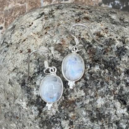Delicate Rainbow Moonstone Earrings