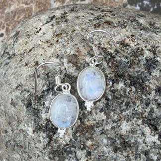 Delicate Rainbow Moonstone Earrings