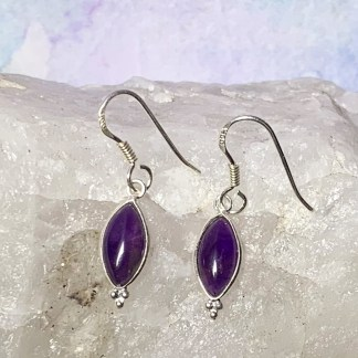 Amethyst & Sterling Dangle Earrings