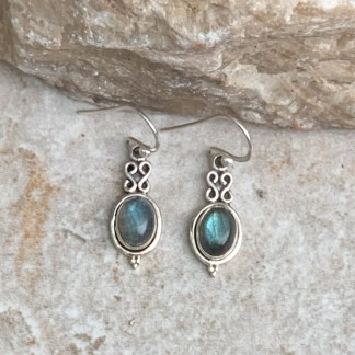Labradorite & Sterling Silver Earrings