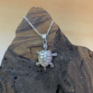Sterling Baby Turtle Pendant