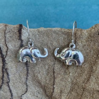 Sterling Elephant Dangle Earrings