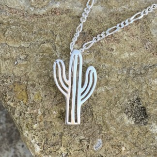 Saguaro Cactus Sterling Pendant