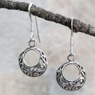 Romantic Sterling Circle Earrings