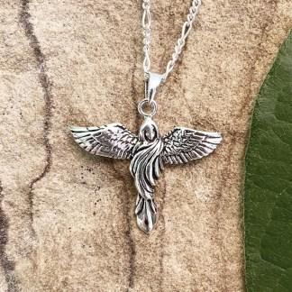 Angel Sterling Silver Pendant