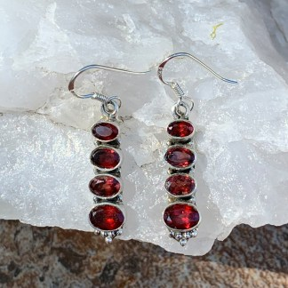 Garnet Multi Stone Earrings