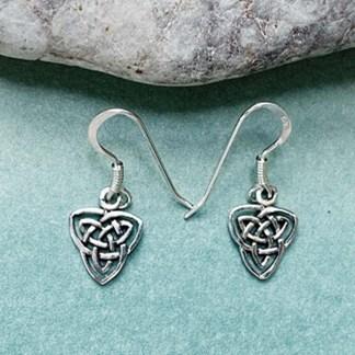 Celtic Triquetra Sterling Earrings