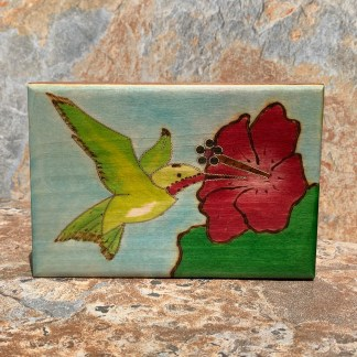 Handcrafted & Hand-Painted Hummingbird Box