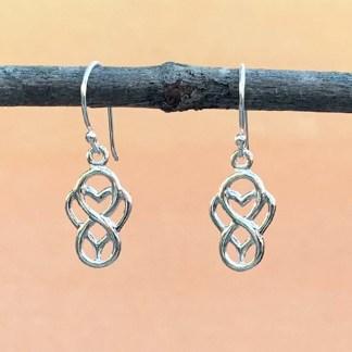 Infinity Heart Dangle Earrings