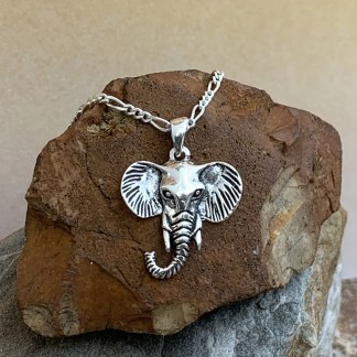 Sterling Elephant Head Pendant