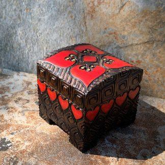 Petite Hearts Wooden Box