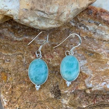 Amazonite & Sterling Silver Earrings