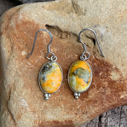 BumbleBee Jasper & Sterling Earrings