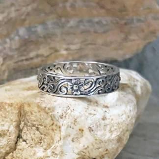 Sterling Fairy Garden Ring