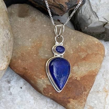 Lapis Lazuli & Silver Pendant