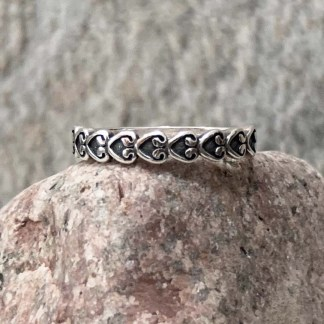 Sterling Endless Heart Ring