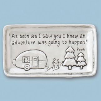 Happy Camper Pewter Tray