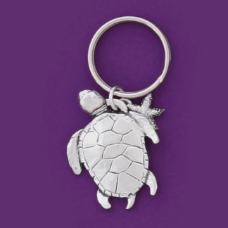 Sea Turtle Pewter Keychain