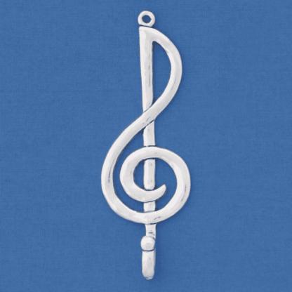 pewter treble clef hook