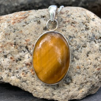 Tiger Eye & Sterling Pendant