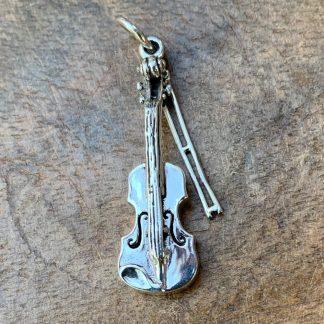 Sterling Silver Violin Pendant