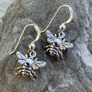 Sterling Bumble Bee Earrings