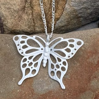 Sterling Statement Butterfly Pendant