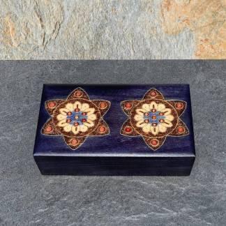 Indigo Double Flower Box