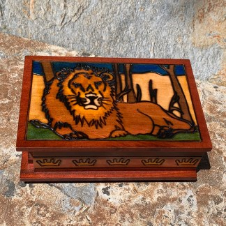 Lion Box with Secret Lock
