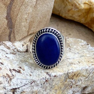 Lapis Sterling Oval Ring