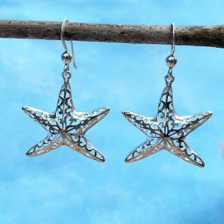 Sterling Starfish Dangle Earrings