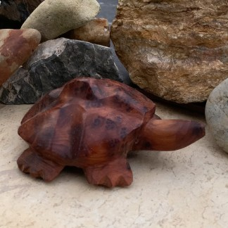 Carved Moroccan Thuya Turtle