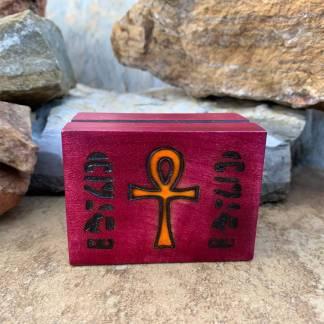 Magenta Wooden Ankh Box