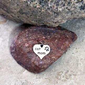 Sterling Cat Mom Pendant/Charm