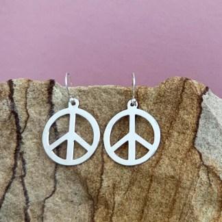 Sterling Peace Dangle Earrings
