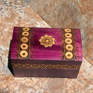 Magenta Treasure Chest Box