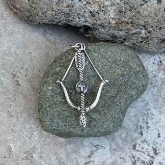 Sterling Bow & Arrow Pendant