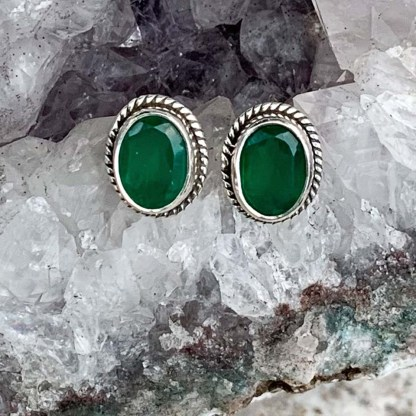 Green Onyx Royal Studs