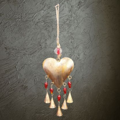 Heart & Beads Wind Chime